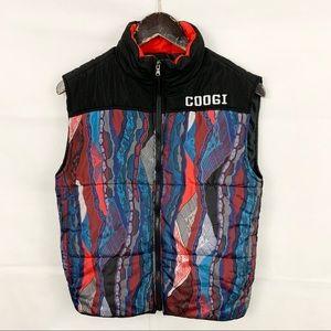 Coogi Vintage Look Black Sleeveless Puffer Vest